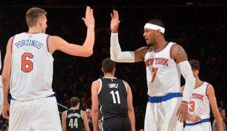 Porzingis liquida el derbi ante los Nets por la vía rápida con triples (Vídeo)