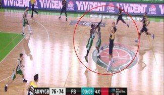 Triplazo ganador del Fenerbahçe: Bogdanovic, en suspensión desde media pista (Vídeo)