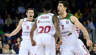 Bourousis y Adams lideran el asalto al Palau. El resumen del Barça-Baskonia, aquí (Vídeo)