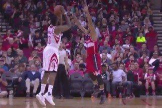 Harden mete 40 y los Rockets acribillan a triples a los Wizards… ¡pero pierden! (Vídeo)