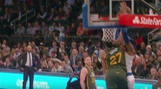 Gobert intimida a Melo y Porzingis paga una novatada. Pero los Knicks ganan (Vídeo)