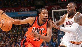 Los Cavs asaltan Oklahoma. Durant lleva 41 partidos seguidos de 20 o más puntos (Vídeo)