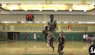 Mate de concurso en un partido de instituto. Josh Jackson, a lo LaVine: entre las piernas (Vídeo)