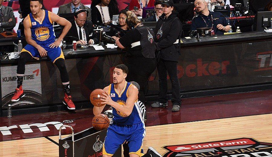 Concurso de triples: Klay Thompson arrebata la corona a Curry en un duelo fratricida (Víd)