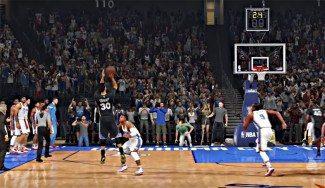 La ficción se acerca a la realidad: así recrea el NBA2K16 el triple de Curry en OKC (Vídeo)