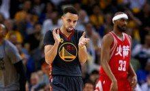 De otro mundo: ¡72 puntos entre Harden y Curry! Los Warriors se gustan corriendo