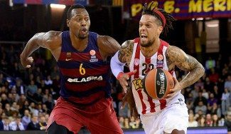 El Barça recupera el average al Olympiacos. Dorsey, revulsivo: ¡mates y tapones! (Vídeo)