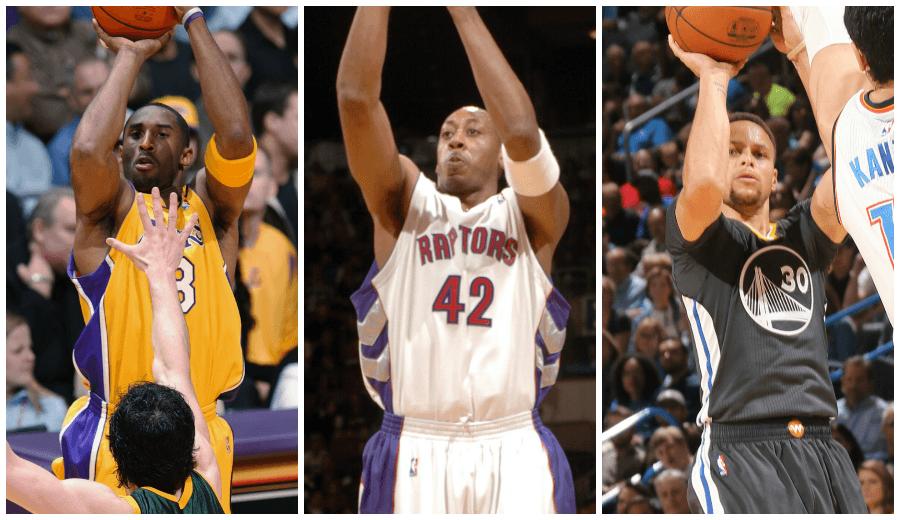 Kobe Bryant y Donyell Marshall fueron antes que Curry: sus 12 triples en un partido (Vídeos)