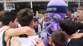 ¡Disfruta el momento! Eso quiere el Joventut. Celebración tras ganar al Gran Canaria (Vídeo)