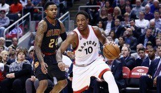 Los 30 puntos de DeRozan y la defensa guían a los Raptors ante los Hawks (Vídeo)