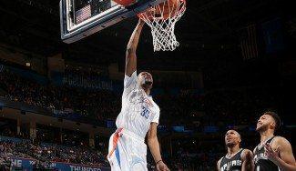 Durant (31) y Westbrook (29), sin piedad de los Spurs B. Popovich reserva estrellas (Víd)