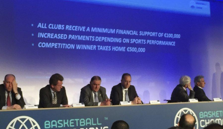 La FIBA presenta su Champions: 500.000 euros al campeón, 100.000 mínimo por equipo