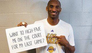 Kobe sortea 2 entradas para su último partido entre los que colaboren con causas solidarias