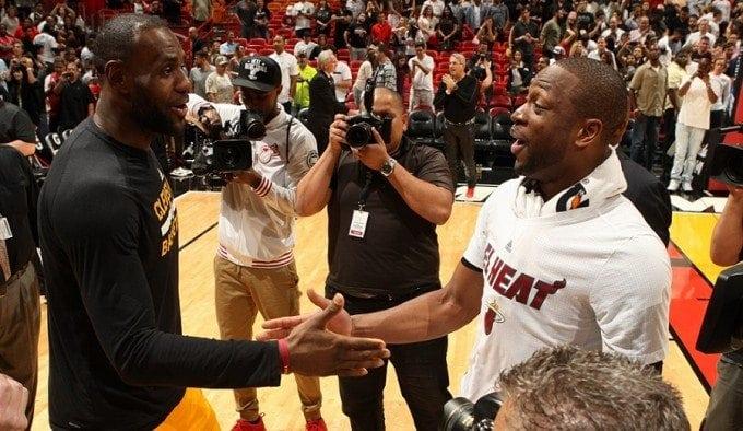Los duelos entre LeBron James y Dwyane Wade, a través de los años