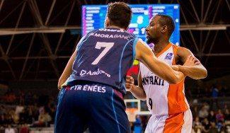 Tabu rompe al Andorra con 34 puntos y refuerza el sexto puesto del Fuenlabrada