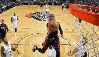 La eterna juventud de Wade: 25 puntos a los Pelicans. Los Heat, viento en popa (Vídeo)