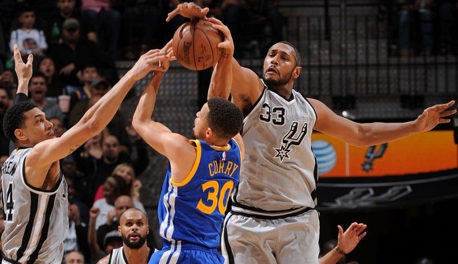 La defensa de los Spurs nubla a los Warriors: ¡entre Curry y Thompson, 2/19 triples! (Vídeo)
