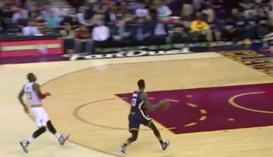 Los Cavs ganan con LeBron reservón: pierde la bola y deja anotar a Paul George (Vídeo)