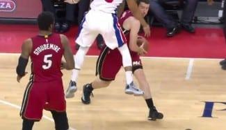 Los Heat ganan en Detroit pero Dragic se lleva la peor parte perdiendo un diente (Vídeo)