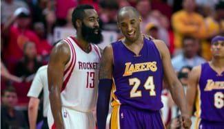 Houston sigue cerca de Utah ganando a Lakers. Espectacular duelo Kobe-Harden (Vídeo)