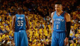OKC da primero parando a Curry al final. Westbrook… ¡19 puntos en un cuarto! (Vídeo)