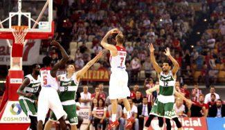 Spanoulis mete 11 puntos en tres minutos para adelantar 2-1 al Olympiacos (Vídeo)