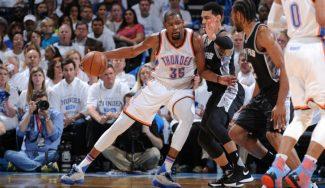Durant se desata en el último cuarto para igualar la serie. ¡Y vaya póster de Kawhi!