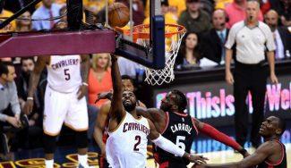 Los Cavs empiezan arrasando a los Raptors. Irving deja tocada la cadera de Joseph (Vídeo)