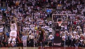 """Miami gana en la prórroga tras el milagro de Lowry. Wade: """"Ganamos dos veces"""" (Vídeo)"""