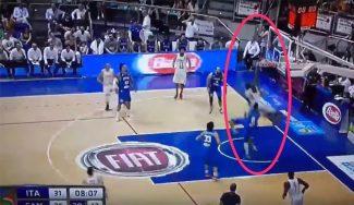 El NBA Anthony Bennett tumba a Cusin con un mate bestial en el Italia-Canadá (Vídeo)