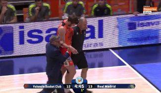 El Valencia se queda sin Shurna: será operado de una fractura del brazo derecho (Vídeo)