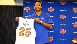 Rose manda un recado a los Bulls durante su presentación en NY y dice que quiere a Noah