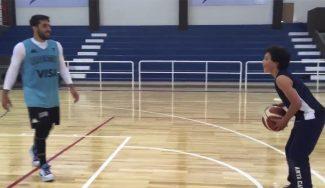 El hijo de 9 años de Luis Scola sorprende a Campazzo en un uno contra uno (Vídeo)