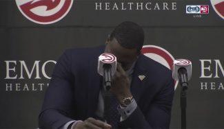 «Un nuevo comienzo». Dwight Howard llora en su presentación con los Hawks (Vídeo)