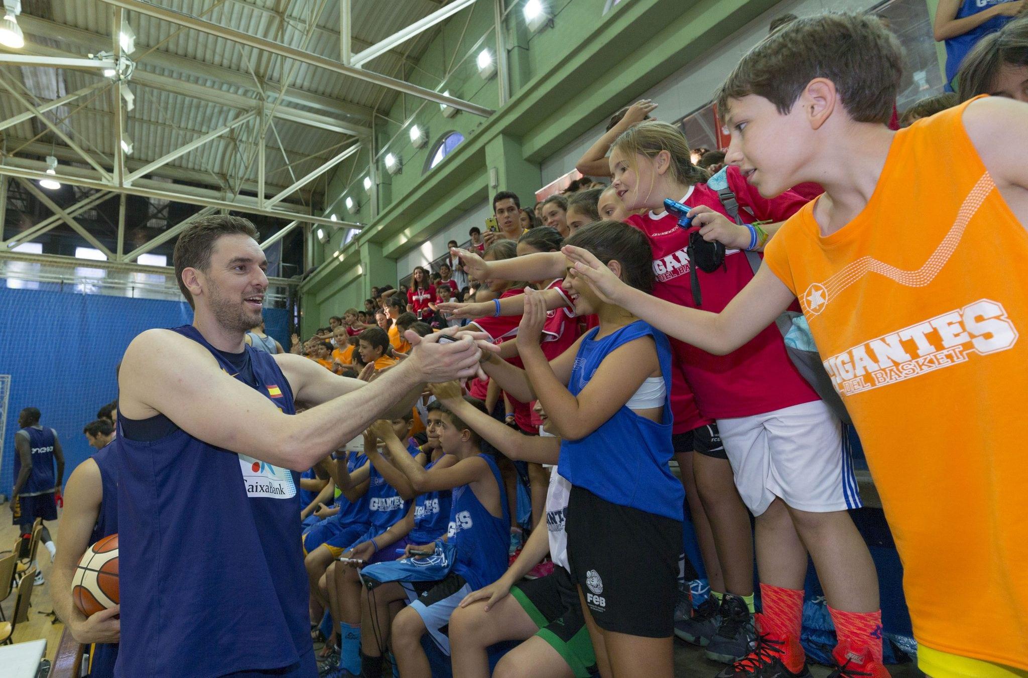 Así fue el mágico día del Campus Gigantes con la Selección. ¡Gracias a Día y a la FEB! (Video)