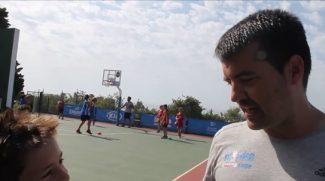 Cuco Rodríguez, preparador físico del Sevilla, a examen por los jugadores del JR NBA Gigantes Camp (Vídeo)