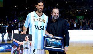 Emotivo homenaje del basket argentino a Scola y Nocioni. ¡Mira qué pedazo de vídeos!