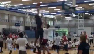 ¡Abusón! Towns, rookie del año en la NBA, le hace esto a un niño en un Campus (Vídeo)