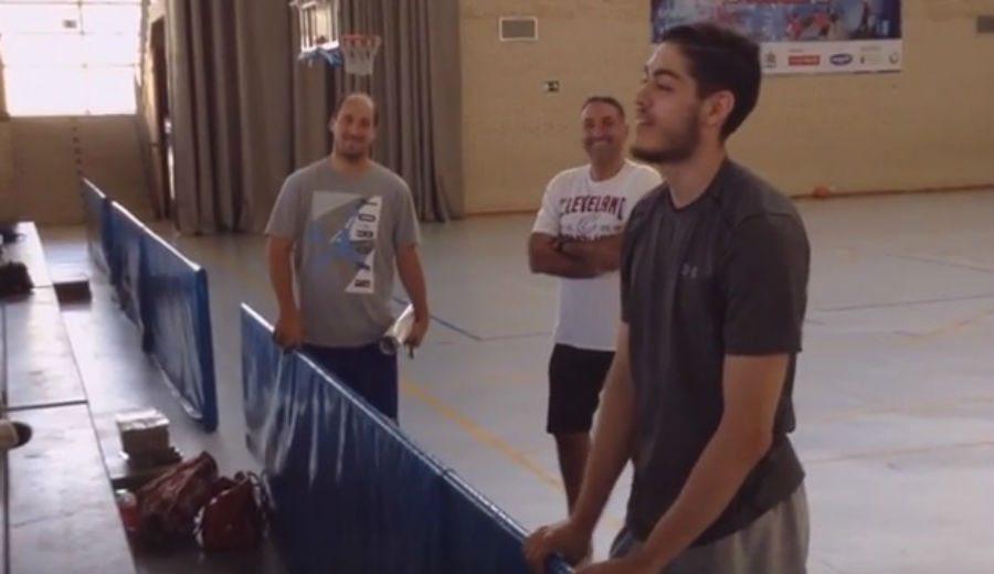 """Los ACB lo pasan en grande en el Campus Gigantes. Edgar Vicedo: """"Mola un montón"""" (Vídeo)"""