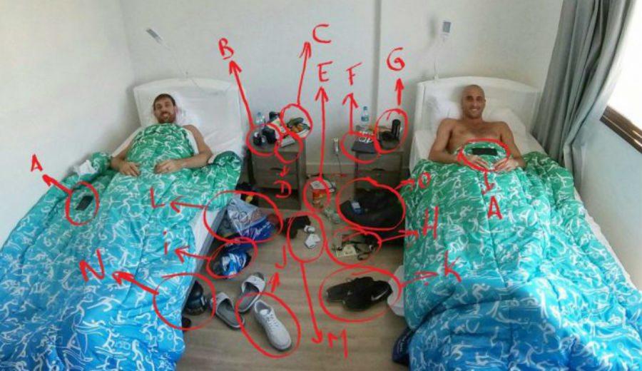 """""""Disculpa mamá por el desorden"""". Así vivían Ginóbili y Nocioni en su habitación en Río"""