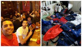 Le roban el móvil… y flipa: los regalos de la Selección Francesa a un voluntario olímpico