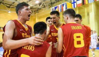 Segundo triunfo de la Sub-16 en el Europeo. Joel Parra domina y Didac Cuevas destroza a Letonia
