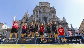 Diversión y mucho basket en Murcia: el Plaza 3×3 de la FEB, con más de 400 jugadores