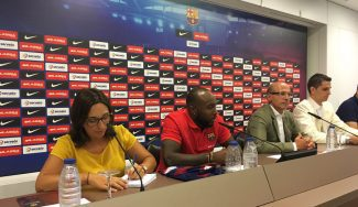 """Rice, presentado: """"Me puedo ver en el Barça hasta que me retire pero es difícil de saber"""""""