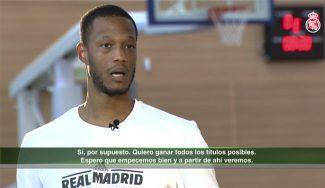 """Randolph, cómodo en el Madrid: """"No creo que tarde en conectar con mis compañeros"""""""