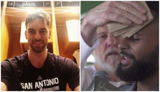 Buen rollo en los Spurs: Pau Gasol posa con orgullo y Popovich vacila a Patty Mills (Vídeo)