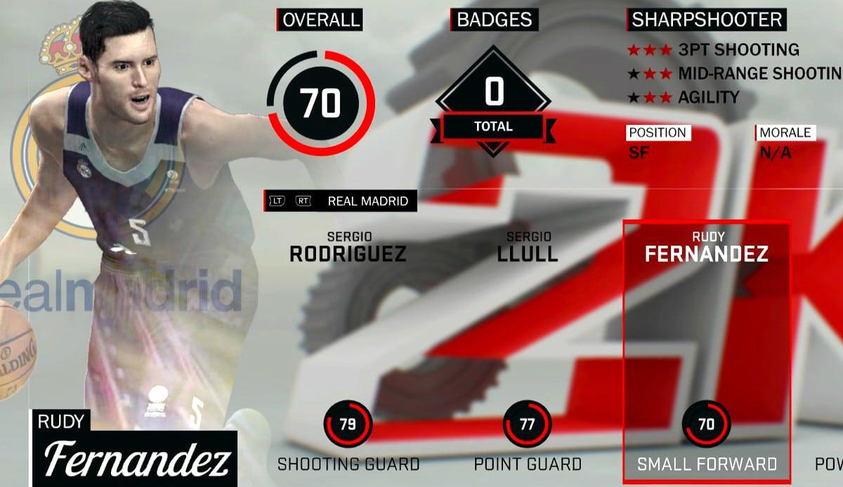 Rudy se troncha con su imagen distorsionada en el NBA 2K17 y con la actualización (Fotos)