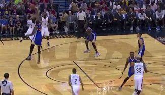 Durant ya gana partidos para los Warriors: tapón a un histórico Anthony Davis (Vídeo)