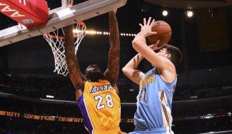Juancho se destapa ante los Lakers: clave en el triunfo de Denver en el Staples (Vídeo)