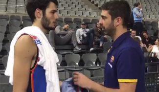 ¿Un regalo pendiente? Navarro va en busca de Abrines tras el Barça-Thunder (Vídeo)